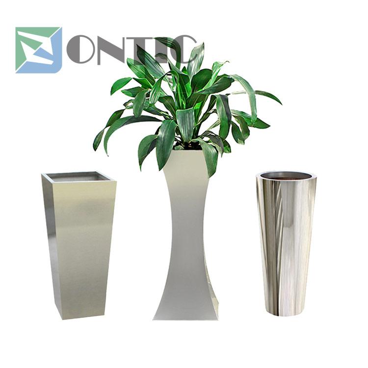 stainless steel flowerpots